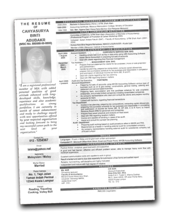 formats of cv. 2011 The correct resume format